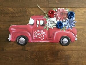 """The Pioneer Woman Iron Painted Hello Summer Floral Truck Sign 15.9"""" x 8.75"""""""