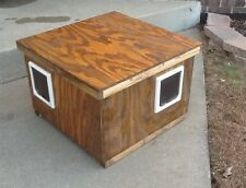 Wood Outdoor Cat House, Cat Pod, Pet Pod 2 door heated