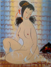 """Excellent Chinese 100% Hand Oil Painting """"Beauty"""" By Lin Fengmian 林风眠  LV31"""