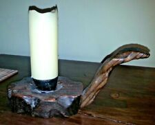 Antique/Vintage Rustic Wooden Candlestick-Candle Holder with Handle