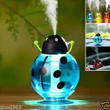 Beetles Ladybug Home Aroma LED Humidifier Air Diffuser Purifier Office Atomizer