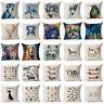 Watercolour Dot Cotton Linen Throw Pillow Case Cushion Cover Home Sofa Decor