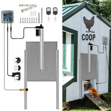 Automatic Chicken Coop Door Chook Coup Auto Sliding Guard Opener Closer Timer