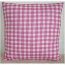 "Cushion Cover 14"" Pink Gingham Plaid Check"