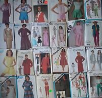 Vintage Sewing Patterns 70's 80's Pants Blouses Tops Skirts -U Pick! Lot #7