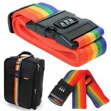 Adjustable Combination Luggage Suitcase Straps Travel Baggage Tie Down Belt LOCK