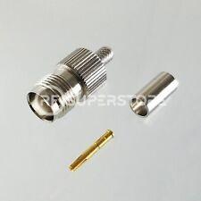 TNC Female Connector Crimp Attachment Coax RG55, RG58, Nickel Plating