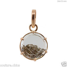 18k Solid Rose Gold 6.31Ct Baguette Diamond Clean Shaker Pendant Fashion Jewelry