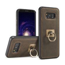 Piel de Nobuk Funda para Móvil Samsung Galaxy S8 Plus Estuche - Café (H3KA)
