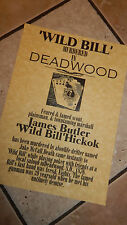 WILD BILL HICKOK,Deadwood Gunfighter  Wells Fargo  WEST POSTERS  Novelty