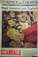 DOMENICA DEL CORRIERE N.45 1965 PAPA GIOVANNI E TOGLIATTI
