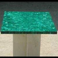 Marble Top Dining Table Malachite Precious Stone Random Inlay Garden Decor E1336