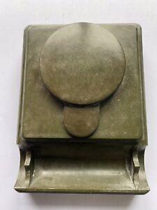 Green Bakelite inkwell