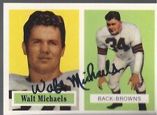 Cleveland Browns WALT MICHAELS Signed Reprint Card