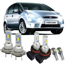 Fits Ford S-Max 2006-Onwards H7 100W COB LED Headlight Bulbs Pair 8000 Lumens Ca
