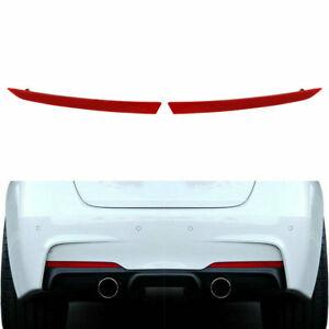 Red Rear RH&LH Side Bumper Reflector For BMW 3-Series F31 F30 M Sport 328i 335i