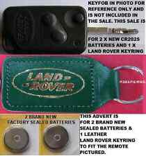 RANGE ROVER P38 REMOTE FLIP KEY FOB BATTERIES & REAL LEATHER LAND ROVER KEYRING