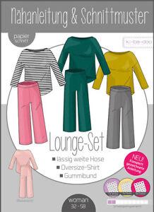 Schnittmuster Damen Lounge Set Hose & Pullover Gr. 32 - 58 kibadoo