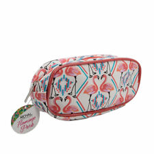 Royal Cosmetics Lovely Flamingo Park Small Cosmetic Bag. H:8xW:18xD:4.5cm-CS174