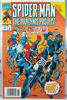 💥 SPIDER-MAN THE ARACHNIS PROJECT #6 NEWSSTAND VARIANT Scarce FINAL ISSUE Venom