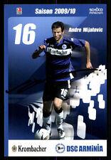 Andre Mijatovic Autogrammkarte Arminia Bielefeld 2009-10 Original Sign+ A 93450