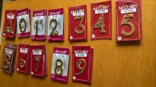 """Bulk buy Brass numbers/ letters 3"""" letters A,B, Numbers 0,1,2,3,4,5,6,7,8,9,"""