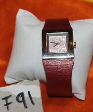 STUNNING DKNY Leather Band Crystals Dial Women Watch F91