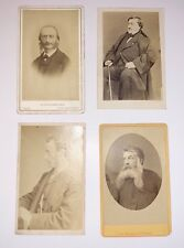 Ensemble de 4 photographies cdv. Rossini / Meissonier / Millais / Offenbach