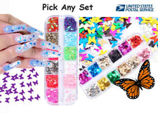3D Nail Glitter Sequins Holographic Laser Butterfly Flakes Nail Art Decoration