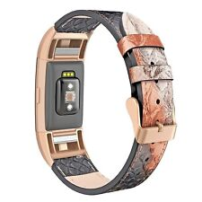 Watch Strap Real Leather FitBit 2 Apple Snake Print Wrist Arm Band UK Tech Gift