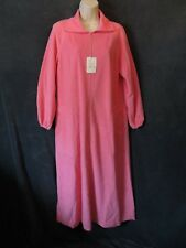 Nwt Vintage Vanity Fair Cotton Candy Pink Plush Long Zip Front Warm Up Robe S