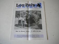 Lou Païs journal régional lozère juin-juillet1970 dans les Cevennes autrefois