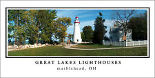 Poster Panorama Great Lakes Lighthouse Marblehead Ohio Panoramic Fine Art Print