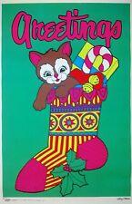 Vintage 1968 Greetings Artko Studios Poster by Artist Leroy Olson