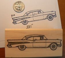 "Chevy Classic Car rubber stamp 2.8x1"" WM  P10"