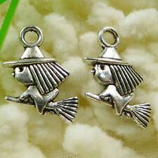 8pcs Tibetan silver witch hat design pendant h0050
