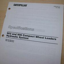 Caterpillar 902 906 Wheel Loader Hydraulic System Specification Service Manual