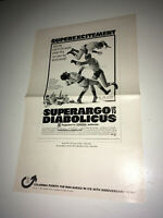 SUPERARGO vs DIABOLICUS Movie Pressbook 1968 Sci-Fi Superhero Nicola Nostro