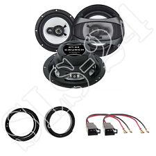 Crunch GTi62 Lautsprecher Einbauset 180 Watt für VW Lupo FOX New Beetle Ringe Ad