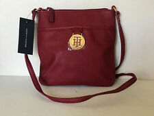 NEW! TOMMY HILFIGER RED SAFFIANO CROSSBODY MESSENGER SLING BAG PURSE $69 SALE