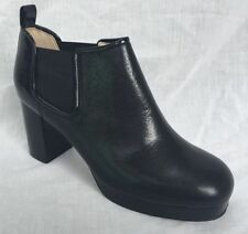 Clarks Court Shoes Block 100% Leather Upper Heels for Women