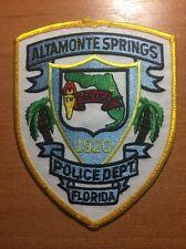 PATCH POLICE ALTAMONTE SPRINGS - FL FLA FLORIDA