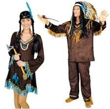 Indianer Indianerin Kostüm Damen Kleid Squaw Sioux Apache Indianerkostüm Mädchen
