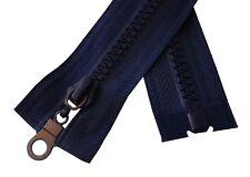 Chunky Zip #5 Plastic Teeth Zipper 25.6'' Single Slider Open End Navy Blue 65cm