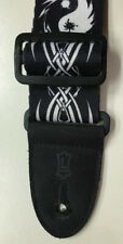 Levy's Yin Yang Adjustable Guitar Strap Black & White Nice Pre Owned Cond. Bin G