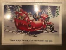 HARLEY DAVIDSON CHRISTMAS CARDS #X552 SANTA WHO YOU CALLIN/' FAT BOY ? 10