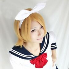 Nuevo alta calidad Vocaloid Kagamine Imán Rin Len Cosplay Wig Fiesta Cos Cabello