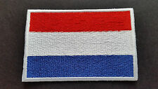 NATIONAL COUNTRY FLAG SEW ON / IRON ON PATCH:- NETHERLANDS HOLLAND