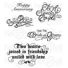Heartfelt Creations Classic Wedding Wishes Cling Stamp Set HCPC-3790