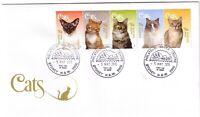 2015 FDC Australia. Cats. Various FDI postmarks